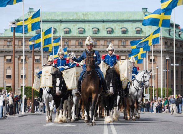 Changing of the Royal Palace Guard in Stockholm